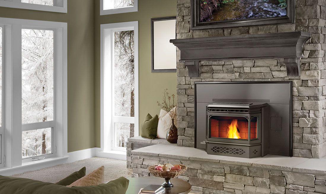 Pellet stoves ottawa ravelli stoves the burning log - Insert a pellet encastrable ...