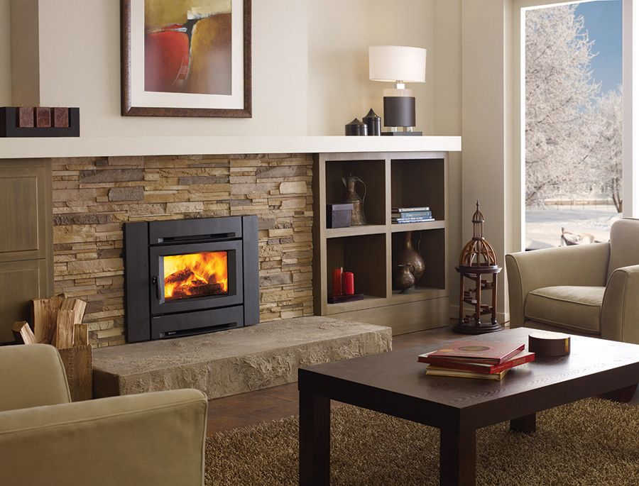 Wood stoves ottawa wood burning fireplace the burning log for Contemporary fireplace insert