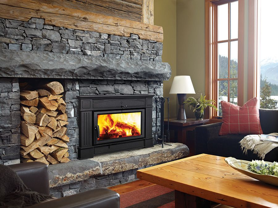 Wood stoves ottawa wood burning fireplace the burning log for Modern wood burning insert