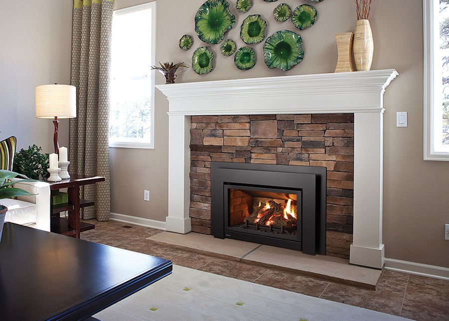 Gas fireplaces ottawa gas inserts ottawa the burning log for Contemporary fireplace insert
