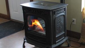 black pellet stove