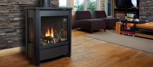 A stylish real-looking gas fireplace from Marquis - perfect addition to a house in Ottawa
