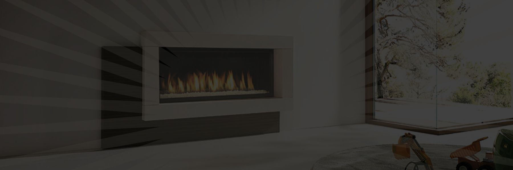 The background to the slider for Marquis gas fireplaces