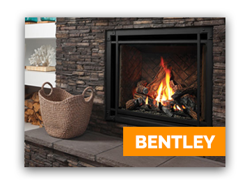 Bentley model gas fireplace - Shown in an Ottawa home by Marquis brand
