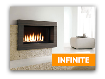 A stunning gas fireplace from Marquis featured in an Ottawa living room.
