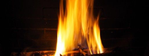 Wood burning fireplace in Ottawa