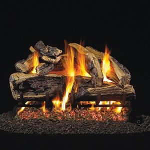 Split-oak look for gas fireplaces - perfect for Ottawa houses