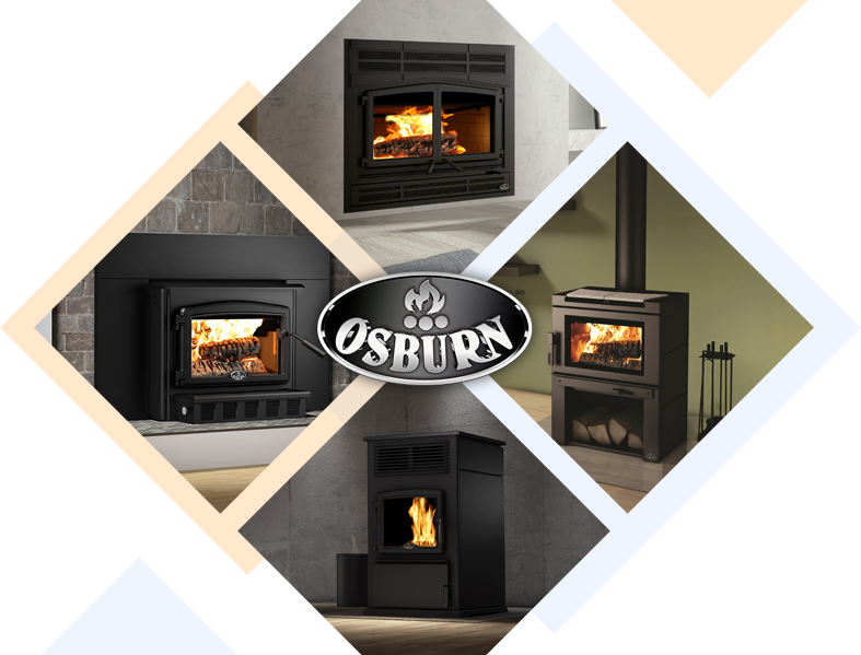 Variety of Beautiful Osburn Wood-burning Fireplaces in Ottawa houses